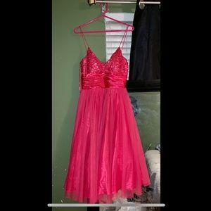 Hot Pink homecoming/prom dress